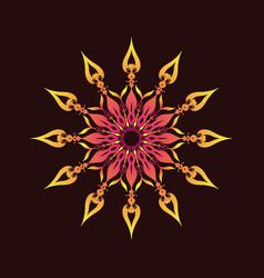 Dark background mandala ornament vector