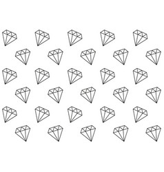 diamonds seamless pattern vector image