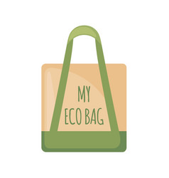 Eco bag icon in flat style isolated on white vector