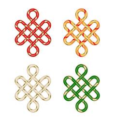 Endless auspicious knot vector