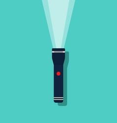 flashlight icon beam light from lantern torch vector image
