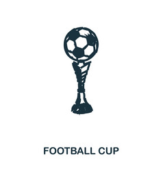 football cup icon mobile apps printing and more vector image