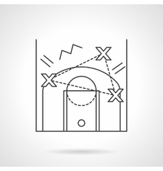 Game tactic flat line design icon vector