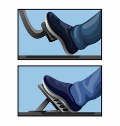 Gas pedal car model comparison symbol automotive vector