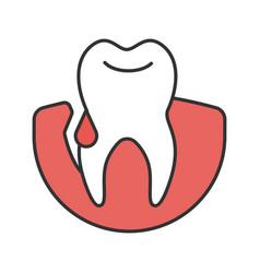 Gum bleeding color icon vector