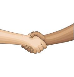 Handshake comic design vector