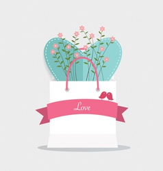 Happy valentines day wedding cards design with vector image