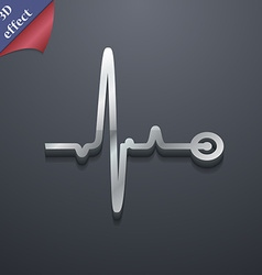 Heartbeat icon symbol 3D style Trendy modern vector image