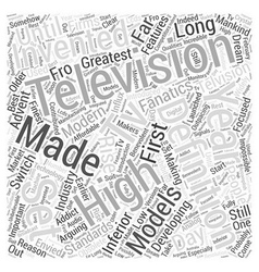 High definition television word cloud concept vector