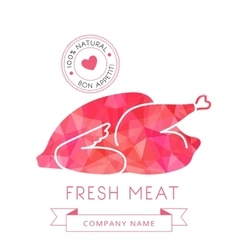 Image carcass chicken or turkey meat poultry vector