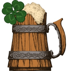 Irish beer mug color vector image