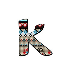 k letter small vector image