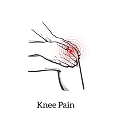 knee pain Hands holding leg vector image