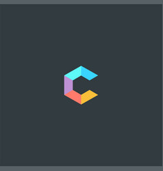 letter c colorful symbol design vector image