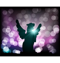 lion and lights vector image vector image
