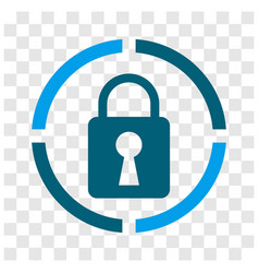 Lock keyhole rounded icon style vector