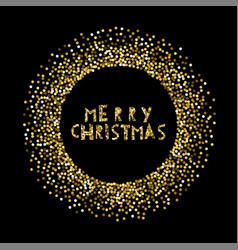 merry christmas banner background glitterfor vector image