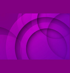 Modern purple backgrounds abstract 3d circle vector