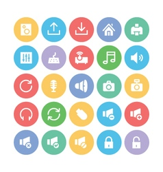 Multimedia Colored Icons 2 vector image