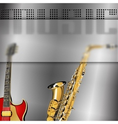 Musical background with glass frame blur - blank vector