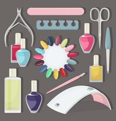Nail salon set vector