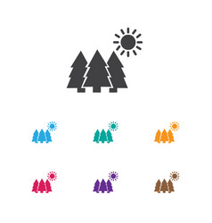 Of camping symbol on forest vector
