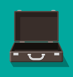 open vintage suitcase for travel vector image