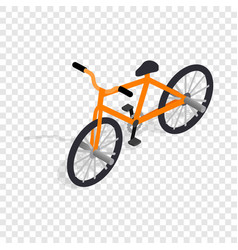 orange bike isometric icon vector image