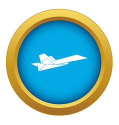 origami airplane icon blue isolated vector image