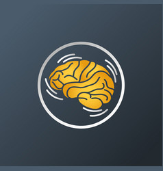 Parkinsons disease logo icon vector