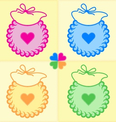 Patchwork bibs vector
