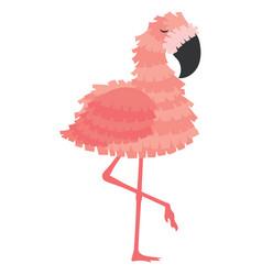 Pink flamingo pinata for a holiday animated vector