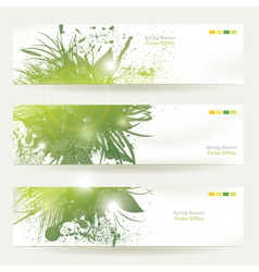 Plant Decorated banners vector image