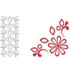 Red grey ornamental frame vector