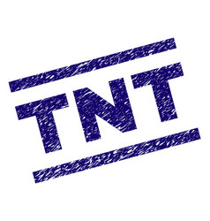 Scratched textured tnt stamp seal vector