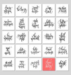 set of 25 hand lettering inscription text vector image
