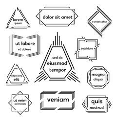 Set of geometric emblem vector image