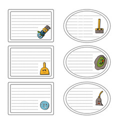 Set of stickers of the concept of cleaning vector