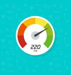 speedometer icon isolated flat simple time vector image