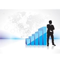 success businessman silhouette vector image