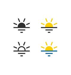 sun rise and sun set icon vector image