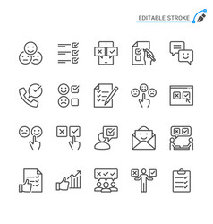 Survey line icons vector