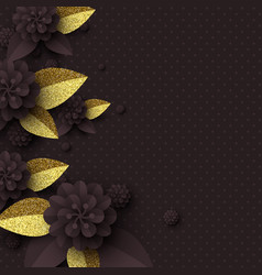 template for greeting card holiday background vector image