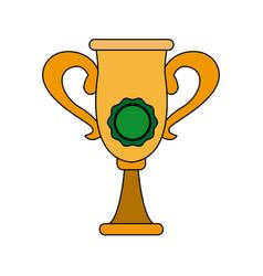 Trophy rosette award success honor icon vector