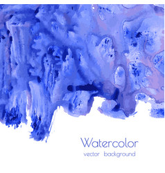Turquoise blue watercolor texture vector