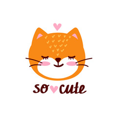 valentines day with cute cartoon cat vector image