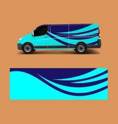 vehicle decal wrap design cargo van graphic vector image