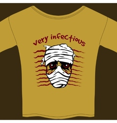 Very Infectious t-shirt design template vector image