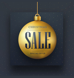 web banner design for christmas sale vector image