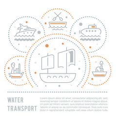 Website banner and landing page water transport vector